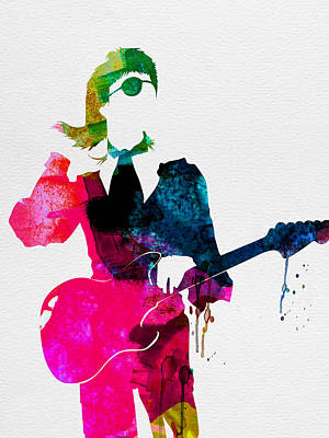 Band Digital Art - David Watercolor by Naxart Studio