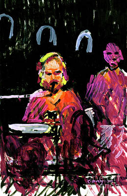 Painting - David Wingo On Stage by Candace Lovely