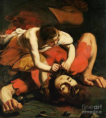 Caravaggio Painting - David With The Head Of Goliath by Michelangelo Caravaggio