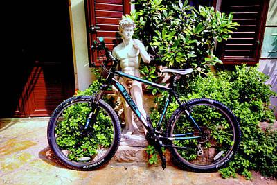 Mixed Media - David's Bike by Bill Oliver