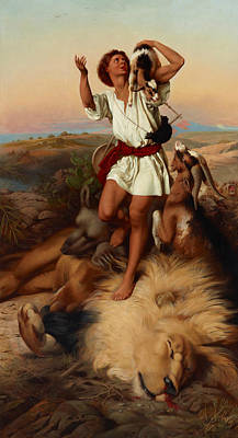 Bible Art Painting - David's First Victory by William Strutt