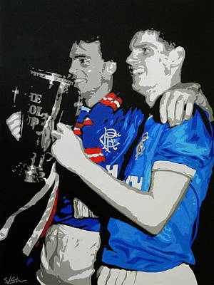 Scott Ian Painting - Davie Cooper Skol Cup Final by Scott Strachan