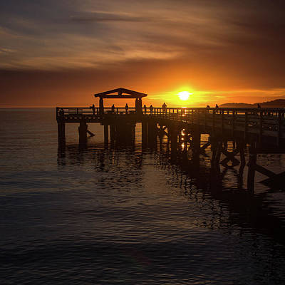 Photograph - Davis Bay Pier Sunset 2 by Brad Koop