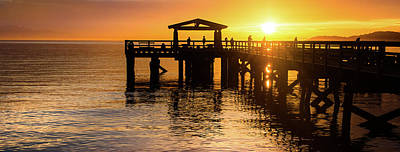 Photograph - Davis Bay Pier Sunset 3 by Brad Koop