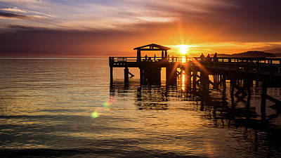 Photograph - Davis Bay Pier Sunset 5 by Brad Koop