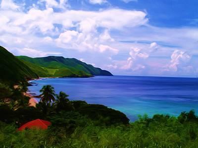 St. Croix Painting - Davis Bay St. Croix Us Virgin Islands by Linda Morland
