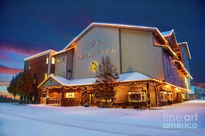 Photograph - Davis Mercantile With Christmas Lights by David Arment