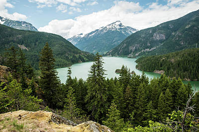 Photograph - Davis Peak Above Diablo Lake by Tom Cochran