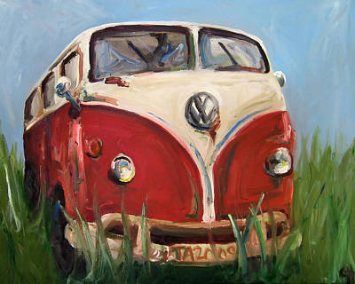Animated Painting - Davis The Vw Microbus by Cari Humphry