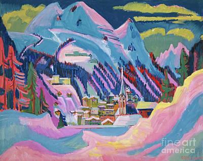 Davos In Winter Art Print