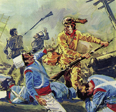 Davy Crockett Eventually Fell To The Ceaseless Mexican Attacks Art Print