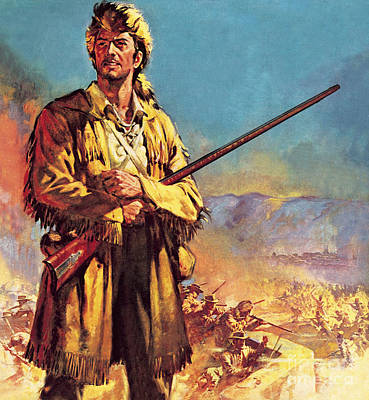 Davy Crockett Painting - Davy Crockett  Hero Of The Alamo by James Edwin McConnell