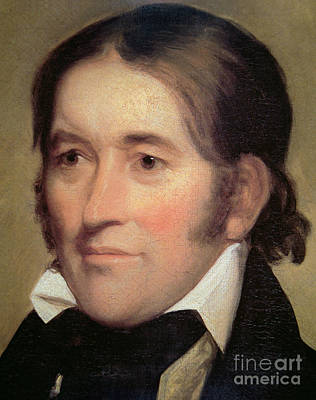 Davy Crockett  Art Print by John Neagle