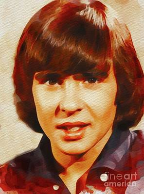 Music Paintings - Davy Jones, Music Legend by Esoterica Art Agency