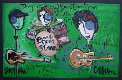Painting - Davy Knowles And Back Door Slam by Laurie Maves ART