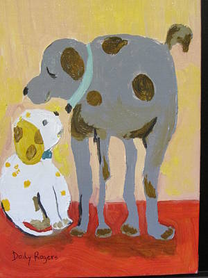 Painting - Dawg Buddies by Dody Rogers