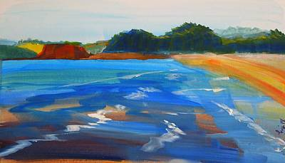 Painting - Dawlish Warren Beach Painting by Mike Jory