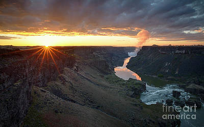 Photograph - Dawn Above The Falls by Idaho Scenic Images Linda Lantzy