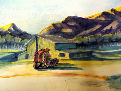 Dawn Along Hiway 33 Art Print by Steven Holder