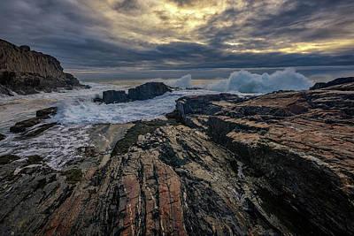 Dawn At Bald Head Cliff Art Print by Rick Berk