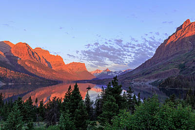 Photograph - Dawn At Beautiful St. Mary Lake by Jack Bell