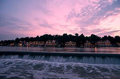 Dawn At Boathouse Row Print by Bill Cannon