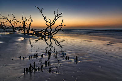 Dawn At Botany Bay Art Print by Rick Berk