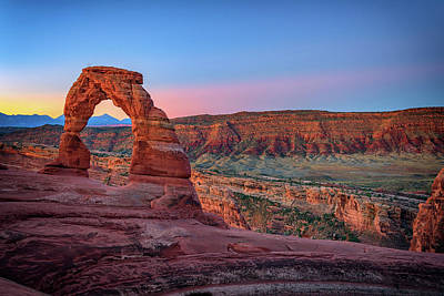 Photograph - Dawn At Delicate Arch by Rick Berk