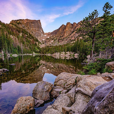 Photograph - Dawn At Dream Lake - Rocky Mountain National Park - Square Format by Gregory Ballos