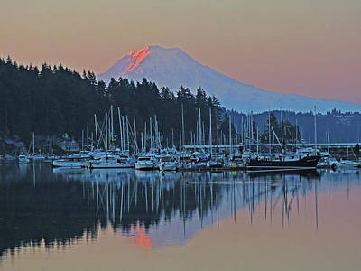 Photograph - Dawn At Gig Harbor by Jack Moskovita