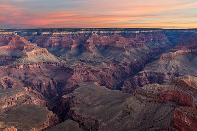 Dawn At Grand Canyon Print by Pierre Leclerc Photography