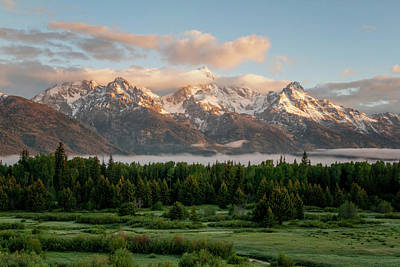 Peaks Photograph - Dawn At Grand Teton National Park by Brian Harig