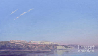 At Peace Painting - Dawn At Jaipur by Derek Hare