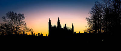 Photograph - Dawn At Kings College Chapel by James Billings