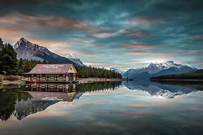 Photograph - Dawn At Maligne Lake by Pierre Leclerc Photography