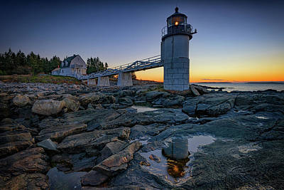 Forrest Photograph - Dawn At Marshall Point by Rick Berk