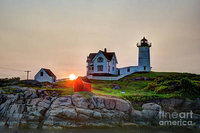 Photograph - Dawn At Nubble Lighthouse by Jean Hutchison