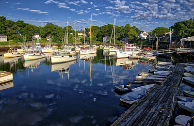 Photograph - Dawn At Perkins Cove - Maine by Steven Ralser