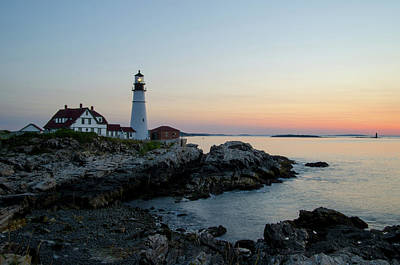 Photograph - Dawn At Portland Head Lighthouse by Janice Adomeit