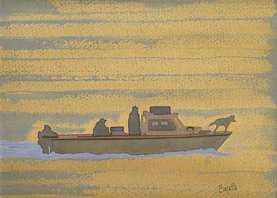 Dawn At Prout's Neck   Art Print by Robert Boyette
