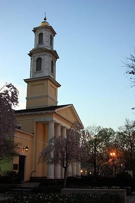 Photograph - Dawn At Saint John Church by Mary Haber