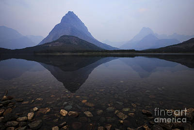 Photograph - Dawn At Swiftcurrent Lake by Dennis Hedberg