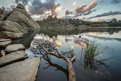 Photograph - Dawn At Sylvan Lake by Adam Romanowicz