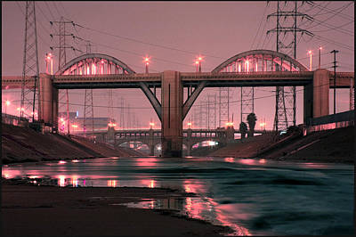 Photograph - Dawn At The 6th Street Bridge by Kevin  Break