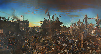 Daybreak Painting - Dawn At The Alamo by Mountain Dreams