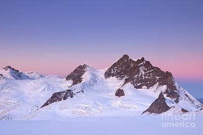Jungfraujoch Photograph - Dawn At The Jungfrau Peak From Jungfraujoch In Switzerland by Sara Winter