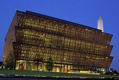 Photograph - Dawn At The National Museum Of African American History And Culture by Cora Wandel