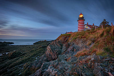 West Quoddy Head Lighthouse Photograph - Dawn At West Quoddy Head by Rick Berk