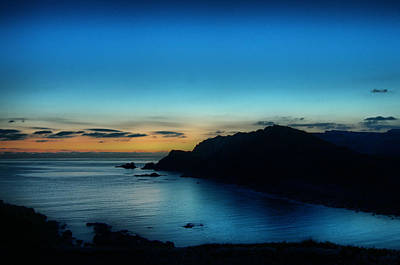 Dawn Blue In Mediterranean Island Of Minorca By Pedro Cardona Art Print by Pedro Cardona