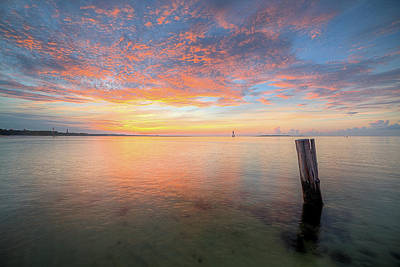 Photograph - Dawn Breaks On Pensacola Bay by JC Findley